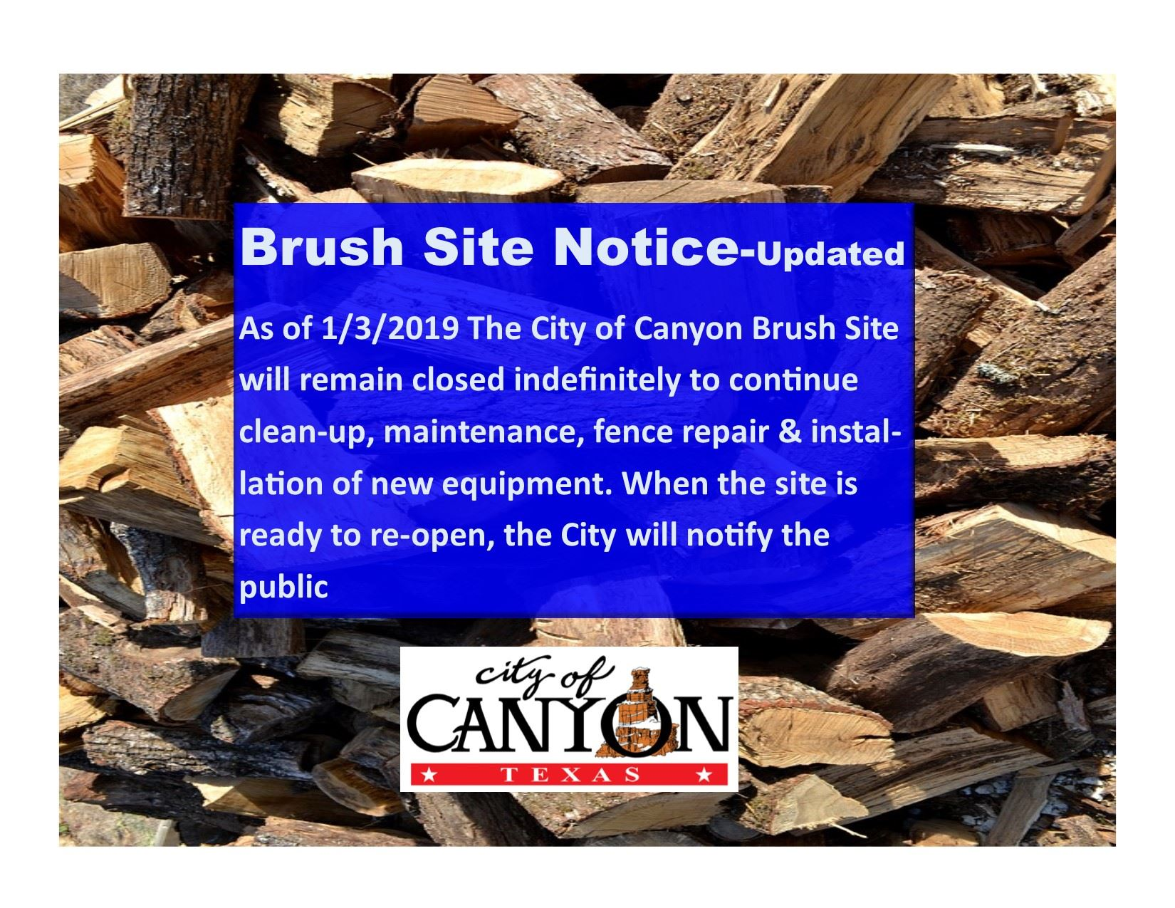 Brush Site Notice-Updated